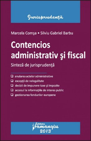 Imagine Contencios administrativ si fiscal. Sinteza de jurisprudenta