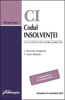 Imagine Codul insolventei. Actualizat 15 octombrie 2013
