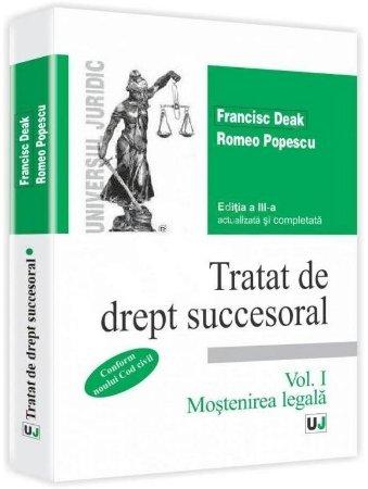 Imagine Tratat de drept succesoral. Vol. I. Mostenirea legala. Conform noului Cod civil