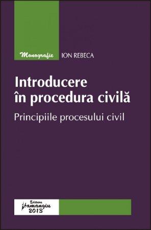 Imagine Introducere in procedura civila. Principiile procesului civil