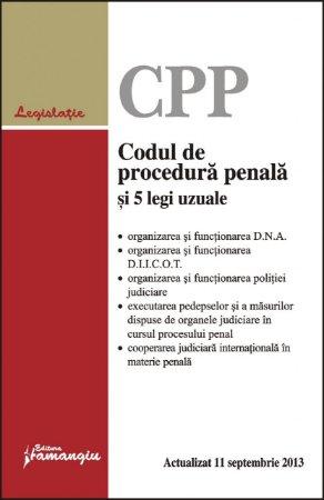 Imagine Codul de procedura penala si 5 legi uzuale 11.09.2013