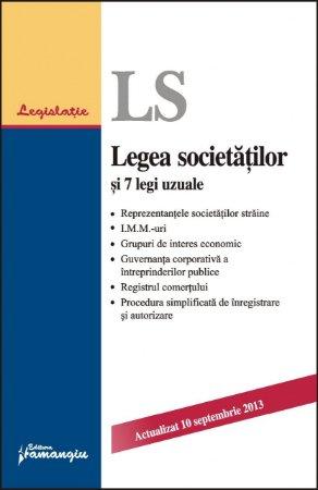 Imagine Legea societatilor si 7 legi uzuale 10.09.2013