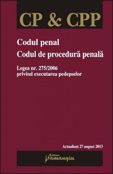Imagine Codul penal. Codul de procedura penala 27.08.2013