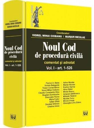 Imagine Noul Cod de procedura civila. Comentat si adnotat Vol. I - art. 1-526