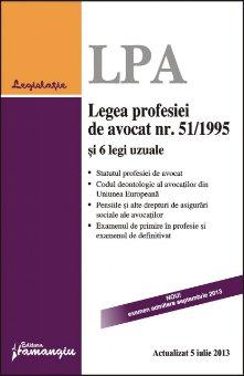 Imagine Legea profesiei de avocat nr. 51/1995 si 6 legi uzuale 5.07.2013