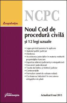 Imagine Noul Cod de procedura civila si 12 legi uzuale 8.05.2013