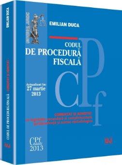 Imagine Codul de procedura fiscala. Actualizat la 27 martie 2013