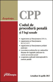 Imagine Codul de procedura penala si 5 legi uzuale - actualizat 16 aprilie 2013