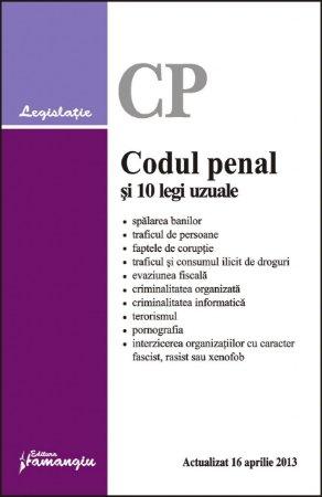 Imagine Codul penal si 10 legi uzuale 16.04.2013