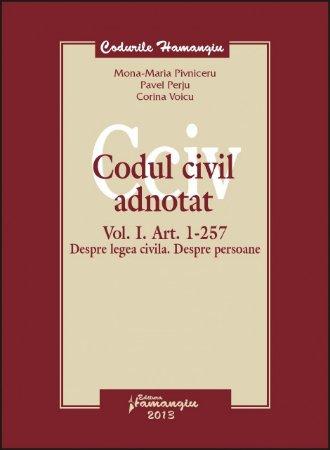 Imagine Codul civil adnotat vol. I. Art. 1 - 257