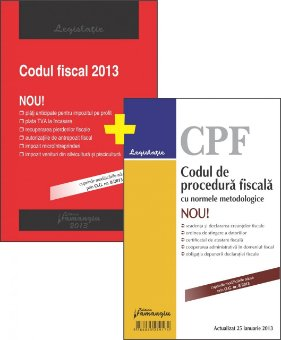 Imagine Pachet: Codul fiscal si Codul de procedura fiscala 2013