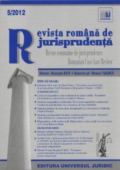 Imagine Revista romana de jurisprudenta nr. 5/2012