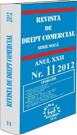 Imagine Revista de Drept Comercial, Nr. 11/2012