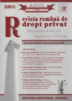 Imagine Revista romana de drept privat nr. 3/2012