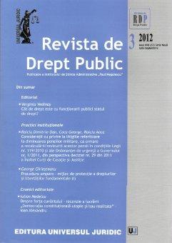 Imagine Revista de Drept Public nr. 3/2012