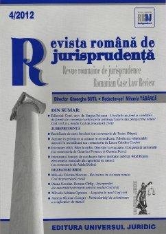 Imagine Revista romana de jurisprudenta nr. 4/2012