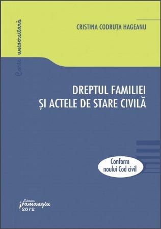Imagine Dreptul familiei si actele de stare civila