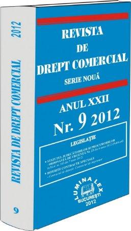 Imagine Revista de Drept Comercial, Nr. 9/2012