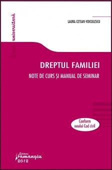 Imagine Dreptul familiei Note de curs si manual de seminar