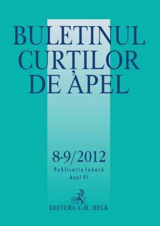 Imagine Buletinul Curtilor de Apel, Nr. 8-9/2012