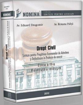 Imagine Drept civil. Sinteze pentru pregatirea examenului de admitere si definitivare in profesia de avocat