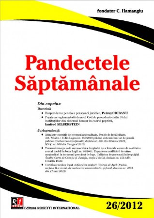 Imagine Pandectele Saptamanale, Nr.26/2012