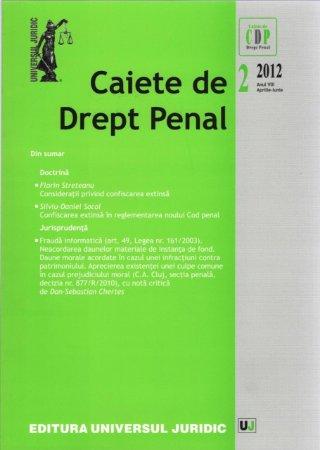 Imagine Caiete de Drept Penal nr. 2/2012