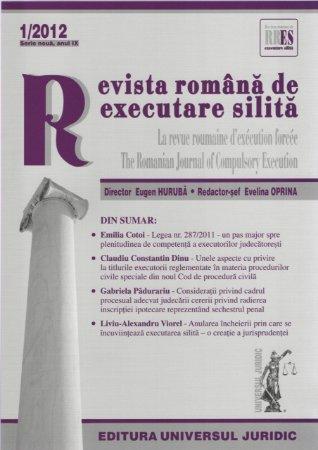 Imagine Revista romana de executare silita, Nr. 1/2012