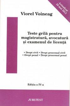 Imagine Teste grila pentru magistratura, avocatura si examenul de licenta - actualizat 10 mai 2012