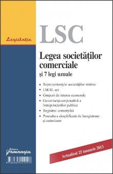 Imagine Legea societatilor comerciale si 7 legi uzuale 25.01.2013