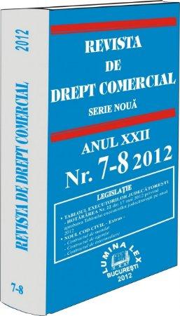 Imagine Revista de Drept Comercial, Nr. 7-8/2012