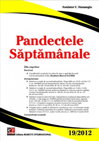Imagine Pandectele Saptamanale, Nr. 19/2012