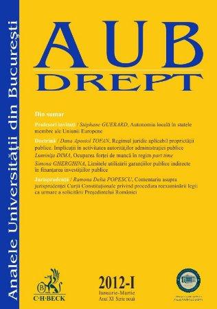 Imagine Analele Universitatii din Bucuresti - Seria Drept, nr. I din 2012