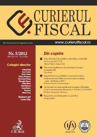 Imagine Curierul fiscal, nr. 5/2012