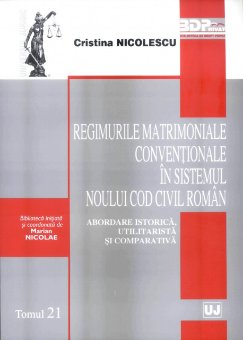 Imagine Regimurile matrimoniale conventionale in sistemul noului Cod civil roman