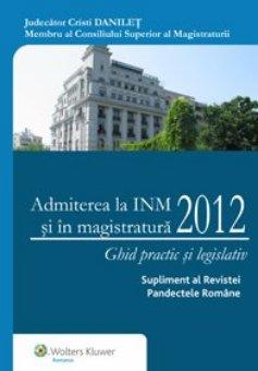 Imagine Admiterea la INM si in magistratura 2012