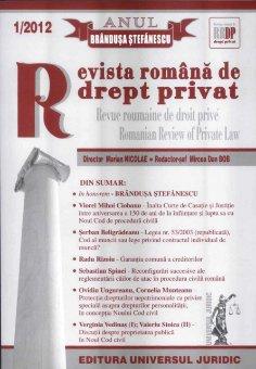 Imagine Revista romana de drept privat nr. 1/2012