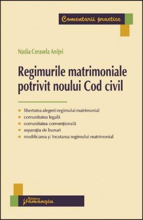 Imagine Regimurile matrimoniale potrivit noului Cod civil