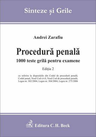 Imagine Procedura penala. 1000 teste grila pentru examene