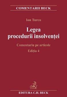 Imagine Legea procedurii insolventei. Comentariu pe articole