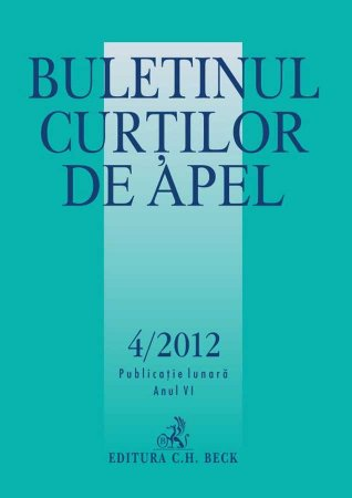Imagine Buletinul Curtilor de Apel, Nr. 4/2012