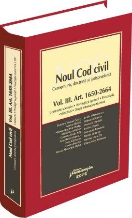 Imagine Noul Cod civil vol. III Art. 1650 - 2664