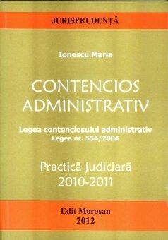 Imagine Contencios administrativ. Practica judiciara 2010-2011