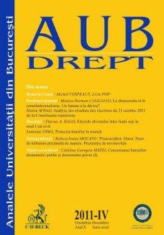 Imagine Analele Universitatii din Bucuresti - Seria Drept, nr. IV din 2011
