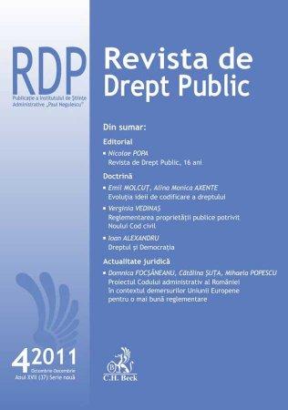 Imagine Revista de Drept Public, Nr. 4/2011