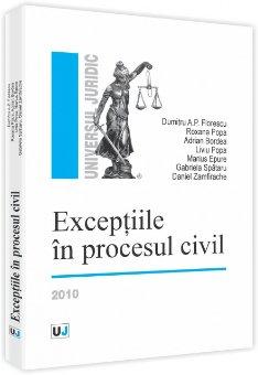 Imagine Exceptiile in procesul civil - 2010