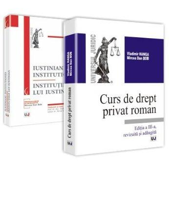 Imagine Oferta Pachet - Institutiile lui Iustinian + Curs de drept privat roman - Editia a III-a