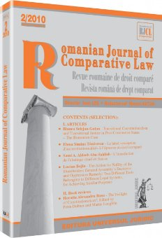 Imagine Romanian Journal of Comparative Law, Nr. 2/2010