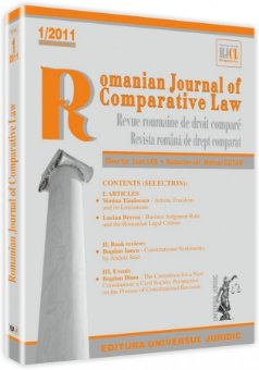 Imagine Romanian Journal of Comparative Law, Nr. 1/2011