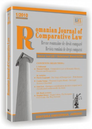 Imagine Romanian Journal of Comparative Law, Nr. 1/2010